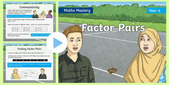 Year 4 Factor Pairs Multiplication Mastery PowerPoint - Reasoning, Greater Depth, Abstract, Problem Solving, Explanation