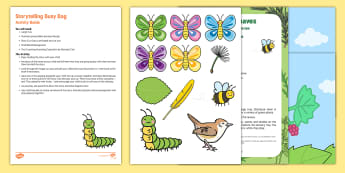 Storytelling Busy Bag Resource Pack for Parents - The Crunching Munching Caterpillar, Sheridan Cain, life cycle of a butterfly, butterflies, catterpil
