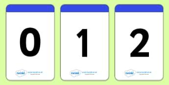 Number Digit Cards 0-30 - ESL Number Resources