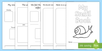 My Snail Project Activity Booklet - Snails, Shell, Snailery, Mollusc, Living Things,Irish
