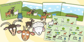 The Three Billy Goats Gruff Story Sack - story sack, story books, story book sack, stories, story telling, childrens story books, traditional tales