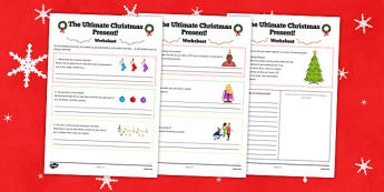 The Ultimate Christmas Present Worksheet - ultimate, christmas, present, worksheet