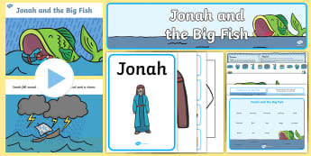 Jonah and the Big Fish Resource Pack - jonah and the whale, RE, nineveh, God, old testament, bible story