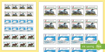 Canadian Post Office Role Play Stamps - canada, canadian, post office, post, office, role play, roleplay, stamps