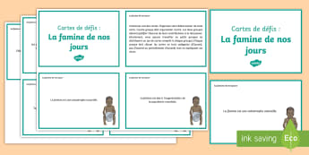 Cartes de débat : La famine de nos jours -  Philosophique, Enseignement Moral Et Civique, Français, Expression Orale, Faim, pauvreté, Cycle 3
