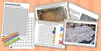 Roman Mosaics Task Setter Flipchart - roman, mosaic, history