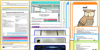 Gymnastics Jumping Jacks And Rock N Roll Lesson Pack 2 Jump And Stop - EYFS, PE, Physical Development, Planning