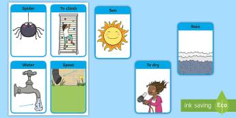 Flashcards : Vocabulaire, comptine