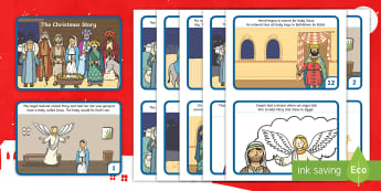 KS1 The Christmas  Story Cards - Child led, Assembly Ideas, Nativity, Play, Celebrations