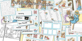 The Tale of Two Bad Mice Resource Pack - two bad mice, resource, pack