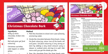Christmas Chocolate Bark Recipe - instructions, xmas, homemade gift, present, holiday, cooking, family