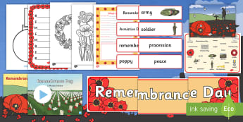 KS1 Remembrance Day 2017 Resource Pack - remembrance, poppy, poppies, soldier, armistice