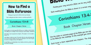 How to Find a Bible Reference Display Poster - display poster, bible, reference