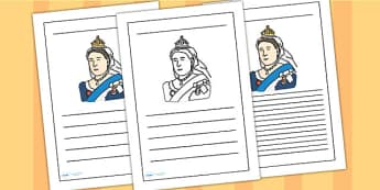 Queen Victoria Writing Frame - queen victoria, writing frame, writing template, writing guide, writing aid, line guide, writing guide, themed writing aid