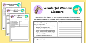 The Giraffe and the Pelly and Me Poster Worksheet / Activity Sheet Pack, worksheet