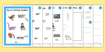 Wr Grapheme Phase 5 Alternative Spellings Activity Booklet