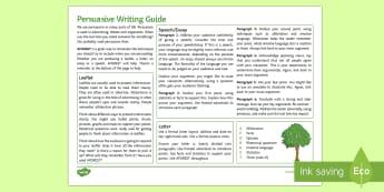 Persuasive Writing (Any Subject) Guide - whole school literacy, persuasion, ks3 , ks4 argument, speech,