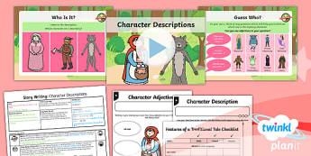 Traditional Tales: Little Red Riding Hood: Story Writing 1 Y1 Lesson Pack - Traditional stories, fairytales, fairy tales, fairy stories, familiar stories
