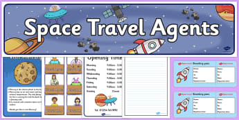 Space Travel Agents  Role Play Pack - Space Role Play, travel, agents, aliens, planets, space, role play, space travel
