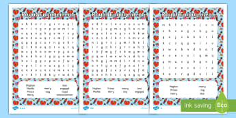 KS1 Royal Engagement Differentiated Word Search - Royalty, Prince Harry, Meghan, Engaged, Marry