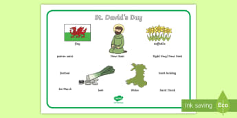 St David's Day Word Mat - St Davids Day, word mat, writing aid, Dewi sant, St David, daffodil, Wales, cymru, leek, parade, patron saint