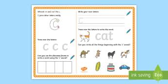UAE EY 'c' Sound Activity Mat - Letters and Sounds, grapheme, phoneme, satpin, letter formation, handwriting, EYFS, Development matt