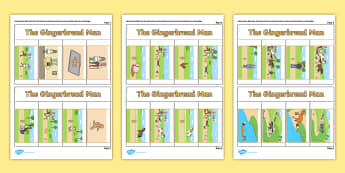 The Gingerbread Man Story Writing Flap Book - flap book, writing