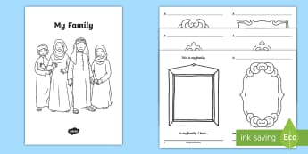 My Family Activity Booklet - My Family, UAE My Family, Emirati Family, UAE Heritage, UAE Culture