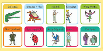 Roald Dahl Character Picture Playing Cards