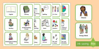 Australia Visual Timetable for Primary- Australia, SEN, visual, aid, prompt, timetable,