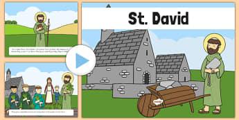 St David Story PowerPoint - st davids day, saint david, st david powerpoint, st david story, dydd gwyl dewi, dewi sant
