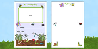 EYFS My Learning Journey Front Coer Minibeast Themed - minibeasts