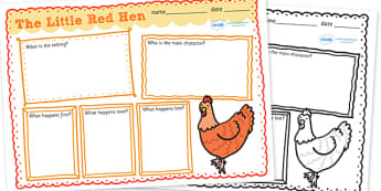 Little Red Hen Story Review Writing Frames - little red hen, the little red hen, little red hen story review, little red hen review, little red hen story
