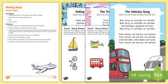 Making Maps Busy Bag Resource Pack for Parents - Transport and Travel, mark making, story stones