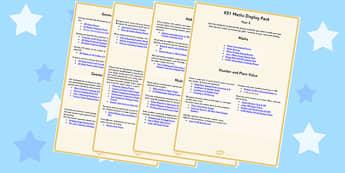 KS1 Maths Display Pack Overview Year 2 - ks1, maths, display pack, overview