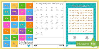 Fingerspelling Sports Activity Pack - Deaf Awareness Week  UK (2.5.17)