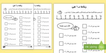 ورقة عمل زائد 1 و زائد 2 Arabic-Arabic