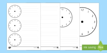 Blank Clock Templates - Time, Clock, Measurement, nz, maths moving, new zealand
