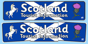 Scotland Tourist Information Role Play Display Banner - scotland, tourist, information, role-play, display banner