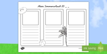 Im sommer 20__ Habe ich... - german, holidays, writing frames, write