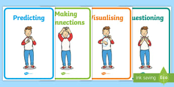 Comprehension Instruction Senior Infants Display Posters - New, Primary Language Curriculum, Comprehension Strategies, Skills, Reading, Building Bridges,Irish