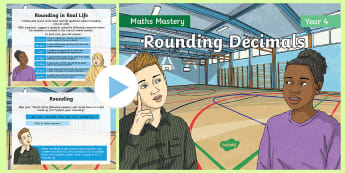 Year 4 Rounding Decimals Maths Mastery PowerPoint - Reasoning, Greater Depth, Abstract, Problem Solving, Explanation
