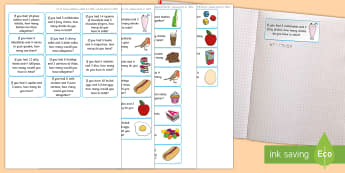 Addition Word Problem Maths Challenge Sticky Avery Labels - Maths, Problems, Word Problems, KS1, Key Stage One, Scenario, Challenges, Stickers