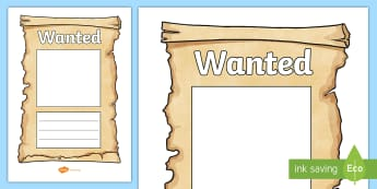 Wanted Poster Templates - Cowboy, wanted poster, template, Indian