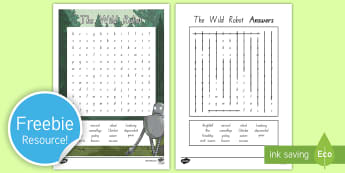 Years 3 and 4 Chapter Chat Word Search to Support Teaching on The Wild Robot by Peter Brown - reading, wordfind, literacy, the wild robot, peter brown, chapter chat