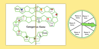 SALT Semantics Categories Board Game - semantic, sort, games, SEN