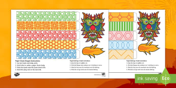 Chinese New Year Paper Chain Craft English/Afrikaans - January, celebrate, traditions, dragon, craft, kuns, EAL