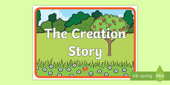 Adam and Eve Creation Story Display Poster -  Adam, Eve, Eden, serpent, fruit, earth, garden, creation, creation story, display, banner, sign, po