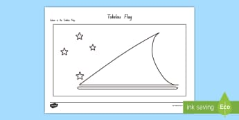 Tokelau Flag Colouring Page - tokelau, tokelau language week, flag, pasifika, tokelauan, colouring in