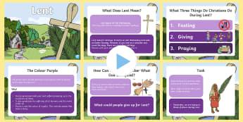 Lent PowerPoint - lent, easter, celebration, christianity, religion, religious education